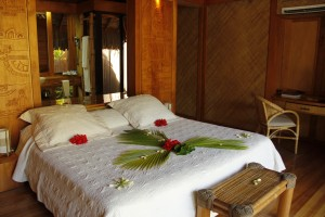 Garden suite at the Bora Bora Pearl Beach Resort. Photo Credit: Julie Rosendo