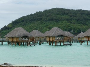Overwater bugalows at the Bora Bora Pearl Beach Resort. Photo Credit: Brittany Pierce