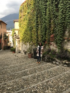 Britt enjoys the charming streets of Bellagio, Italy.