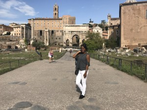 Britt at the Roman Forum