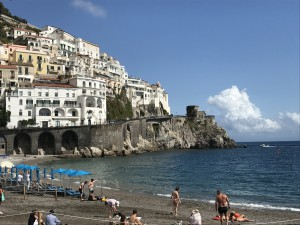 The beach in Amalfi, Italy
