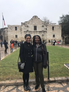 Brittany and Mom at the Alamo in San Antonio, TX.