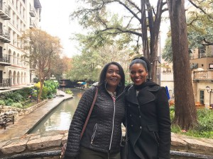 Brittany and Mom at the Riverwalk in San Antonio, TX